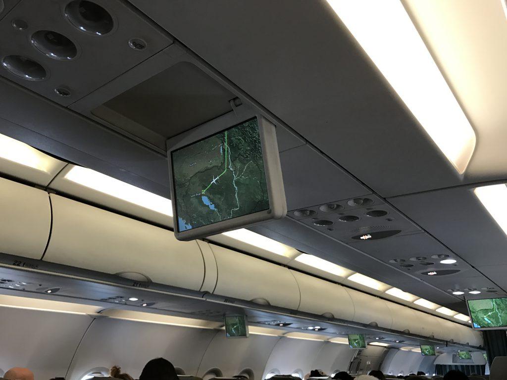 ベトナム航空ハノイ経由シェムリアップ機内