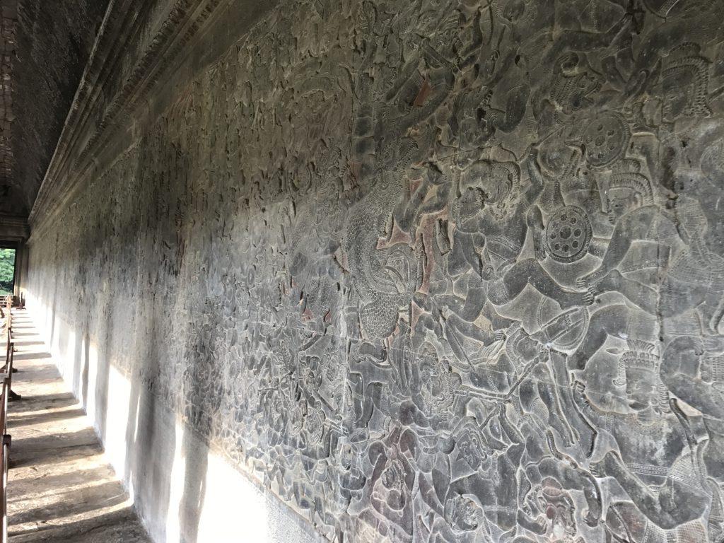 アンコールワット壁画