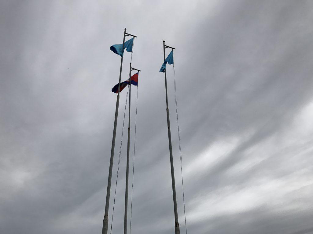 プレアヴィヒアユネスコ旗