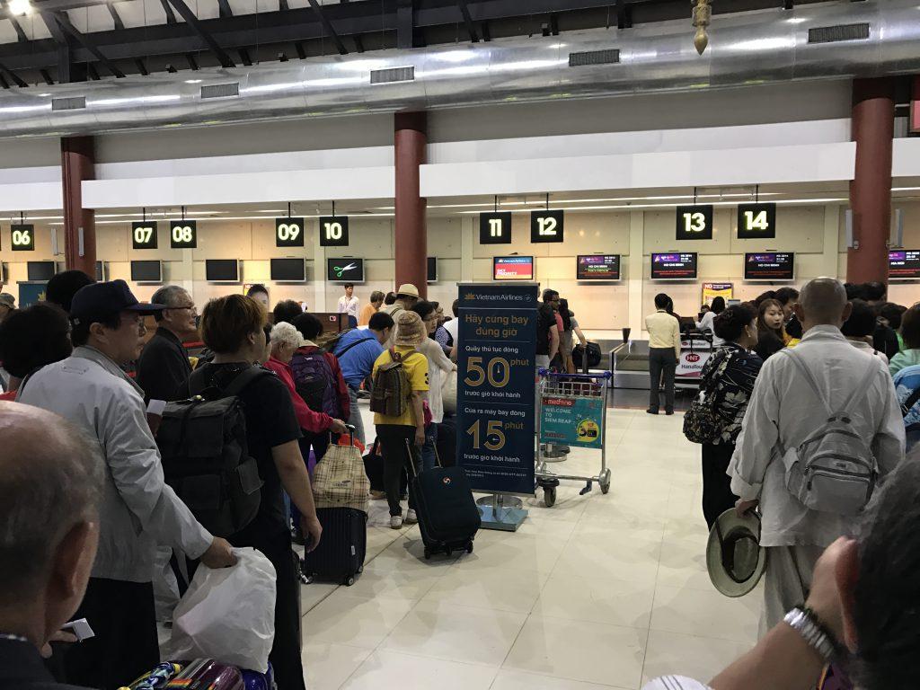 シェムリアップ国際空港チェックインカウンター