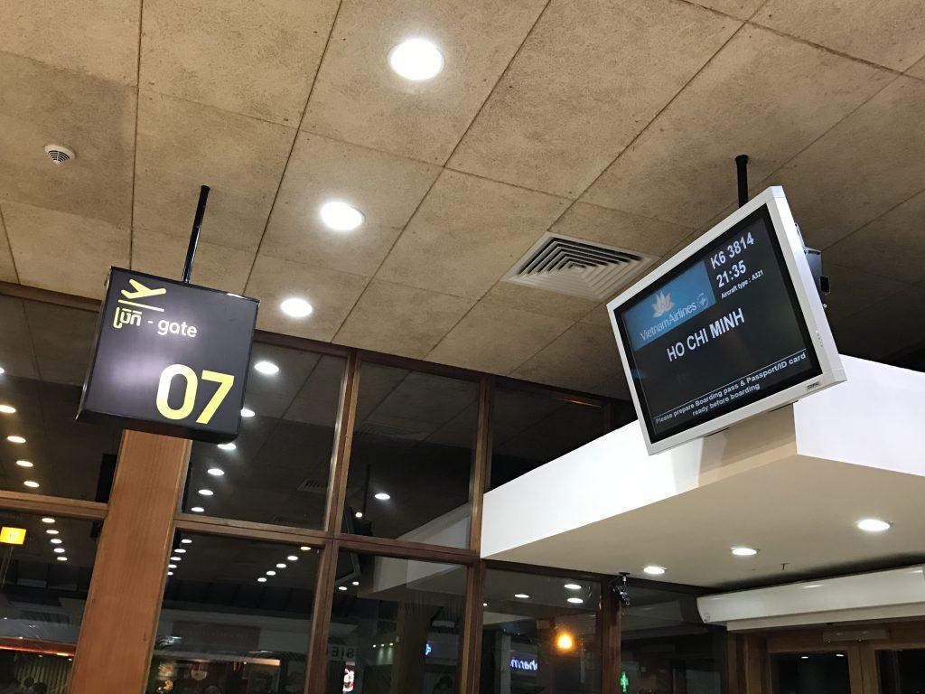 シェムリアップ国際空港ゲート