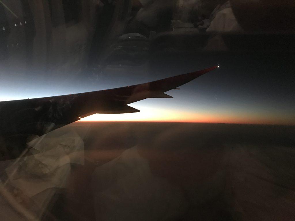 ベトナム航空からの日の出