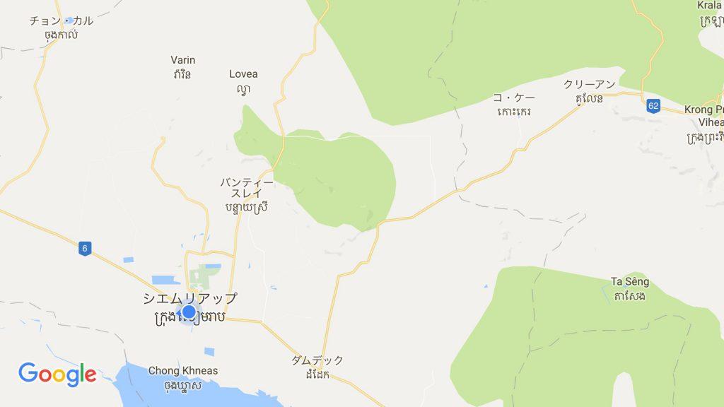 コーケー遺跡群地図