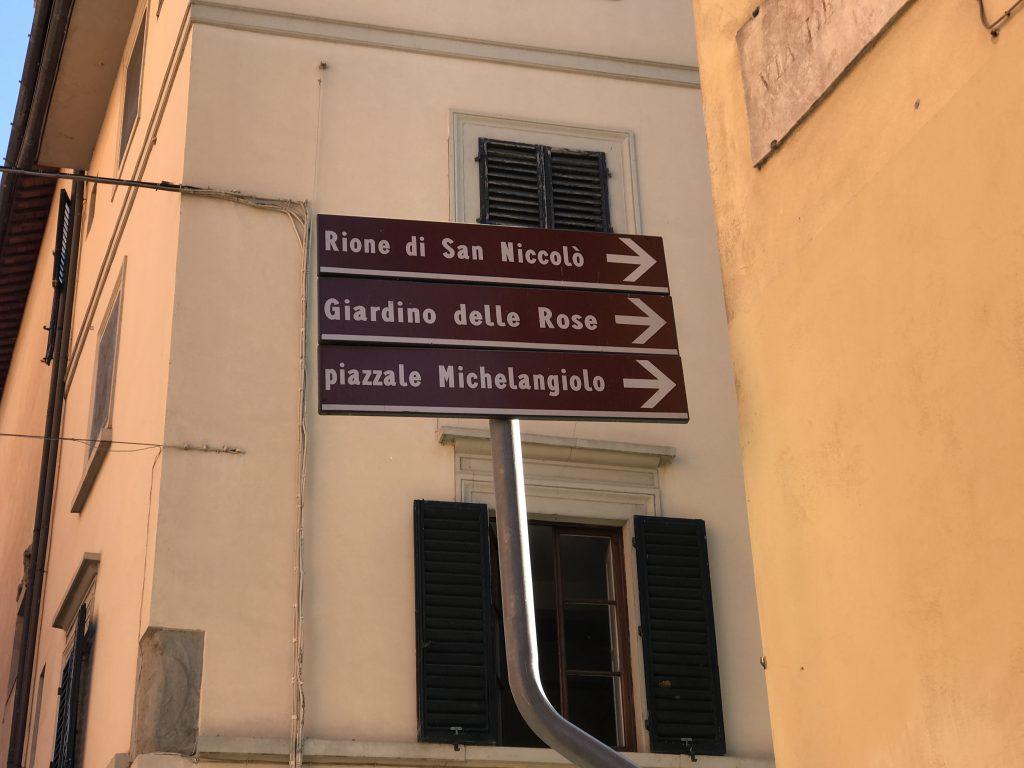 ミケランジェロ広場案内板