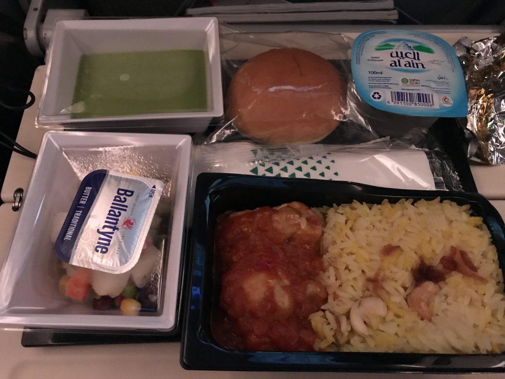 エティハド航空機内食