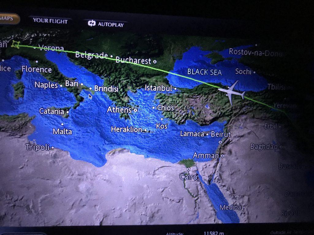 トルコ黒海上空