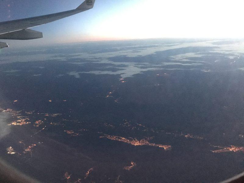 プリトヴィツェ付近上空