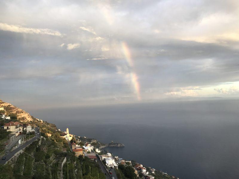イタリア観光!世界遺産アマルフィ海岸で虹を見た