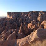 カイマクル地下都市とギョレメ国立公園のカッパドキアの岩石遺跡群へ