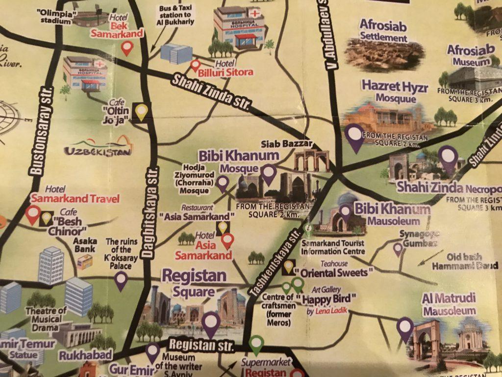 サマルカンド地図