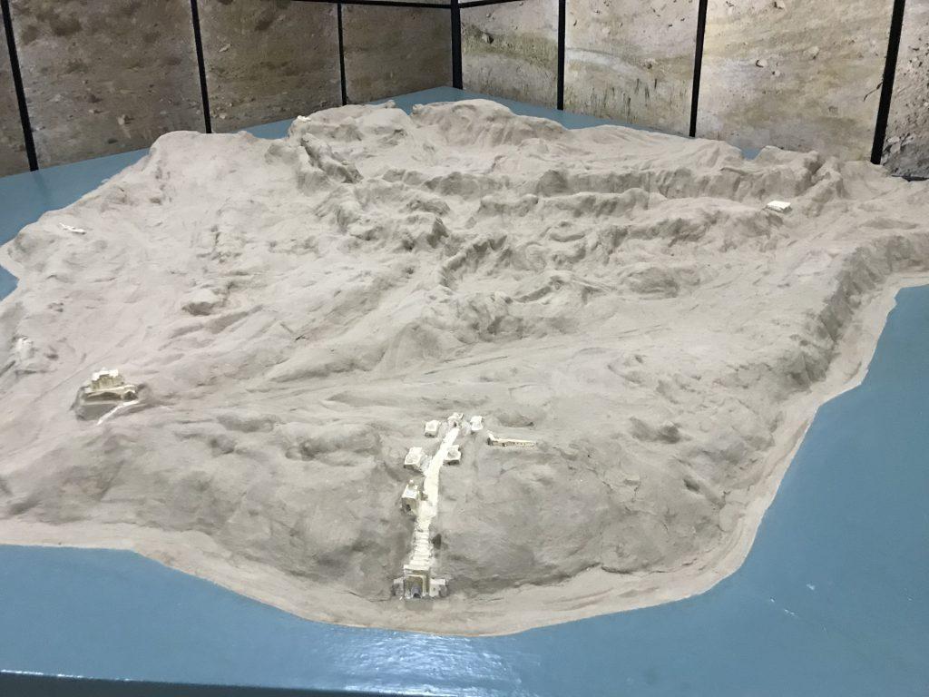 アフラシャブの丘 模型