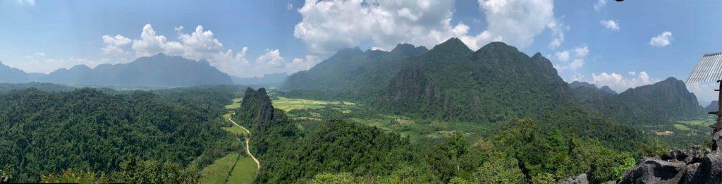 バンビエンビューポイント頂上絶景