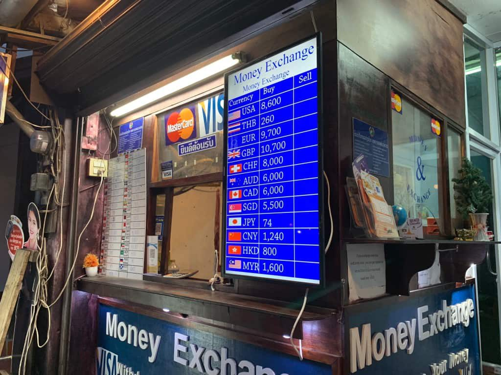 ルアンパバーン 日本円両替
