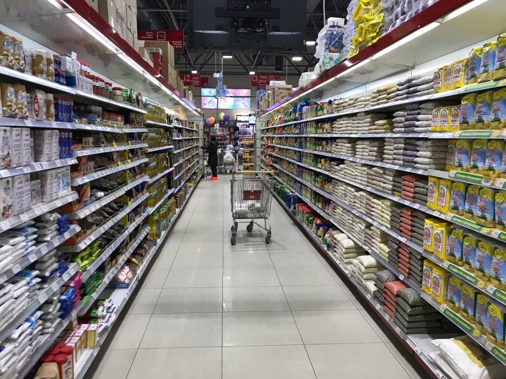 ウズベキスタン スーパーマーケット内部