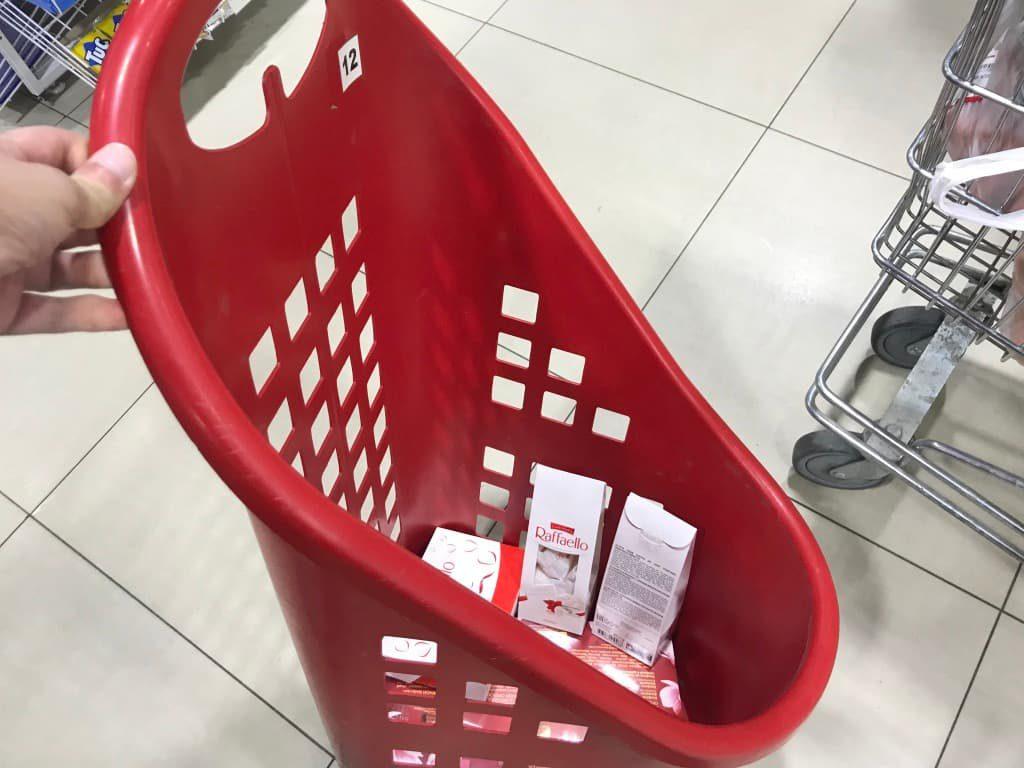 タシケント スーパーマーケット カート