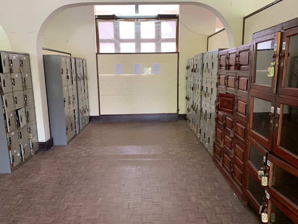 ルアンパバーン王宮博物館 荷物置き場