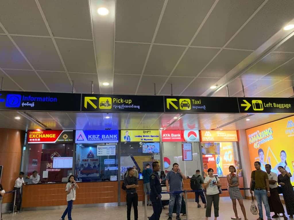 ヤンゴン国際空港の詳細!両替所や市内への移動にお土産・喫煙所など
