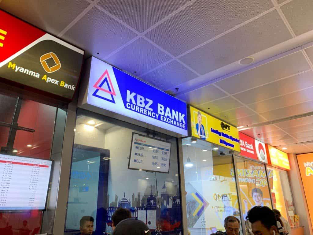 ヤンゴン国際空港 両替所