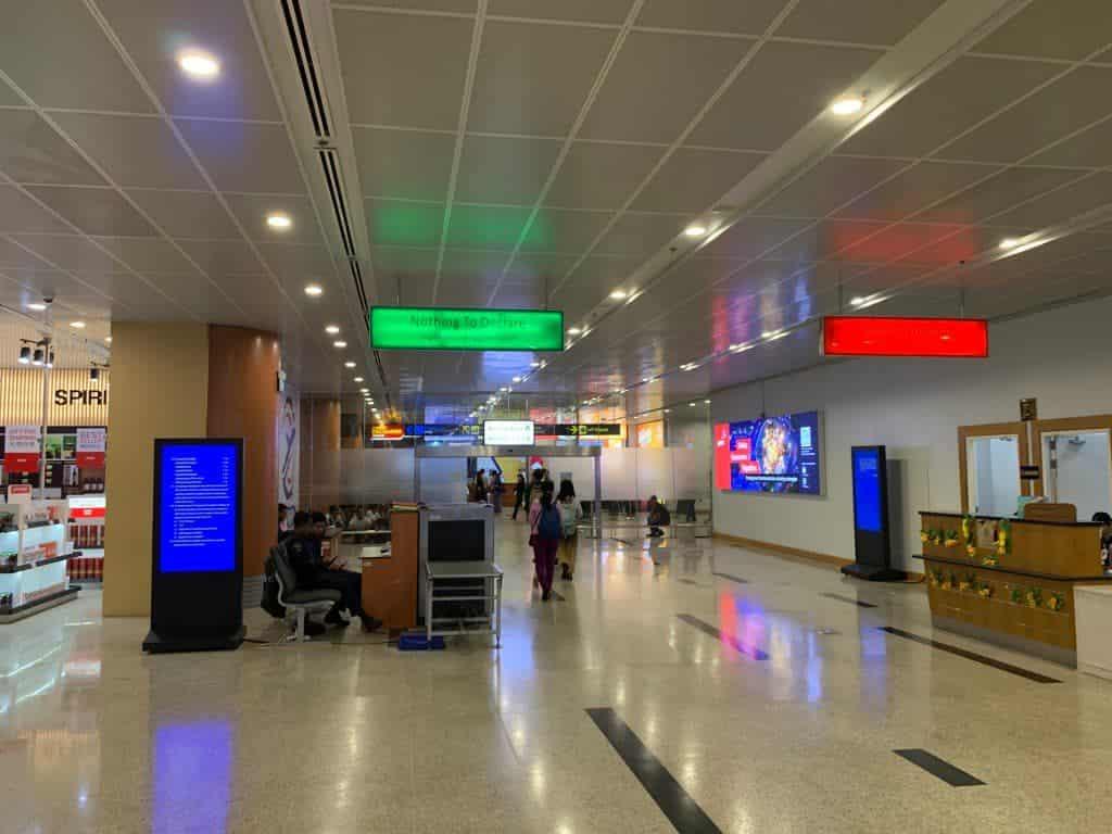 ヤンゴン国際空港 入国