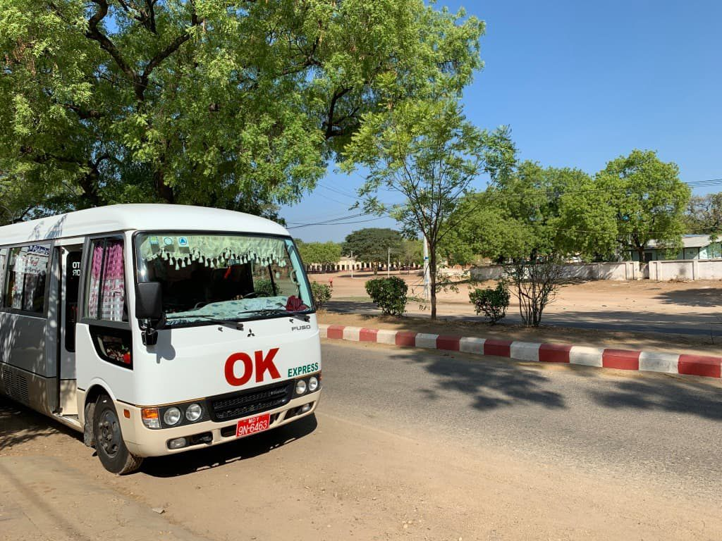 ミャンマーOKバス