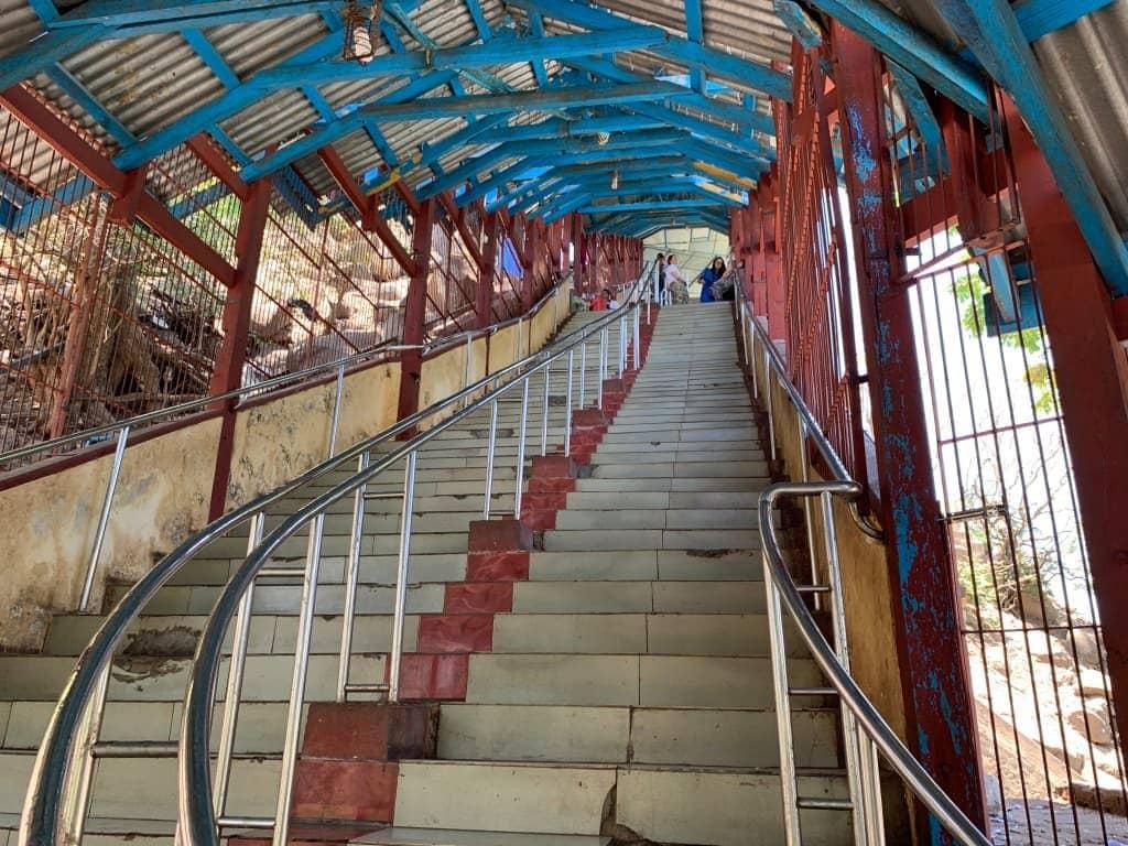 ポッパ山 階段