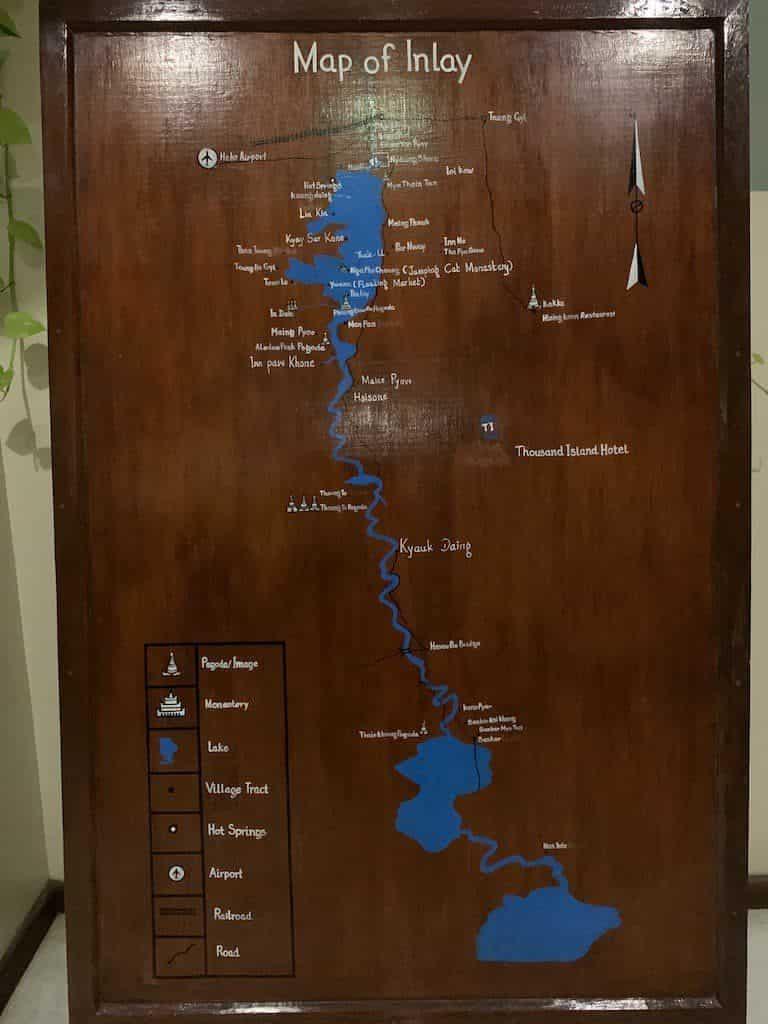 インレー湖 地図