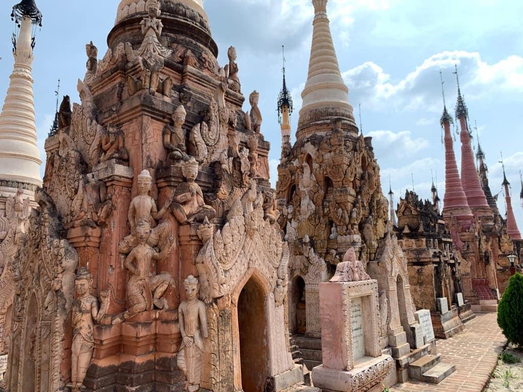 カックー遺跡 仏塔の装飾