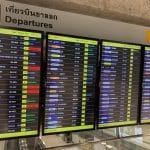 スワンナプーム国際空港 電光掲示板