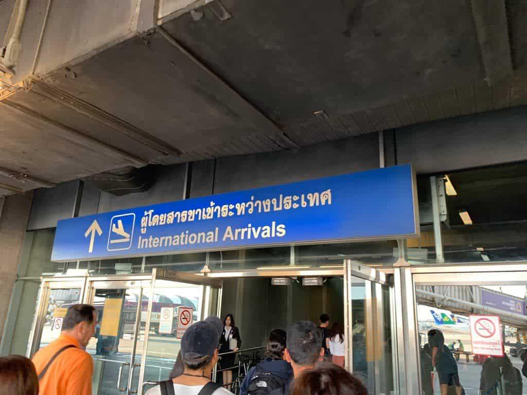 スワンナプーム国際空港 案内板