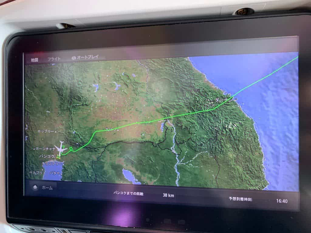 タイ国際航空 バンコク到着