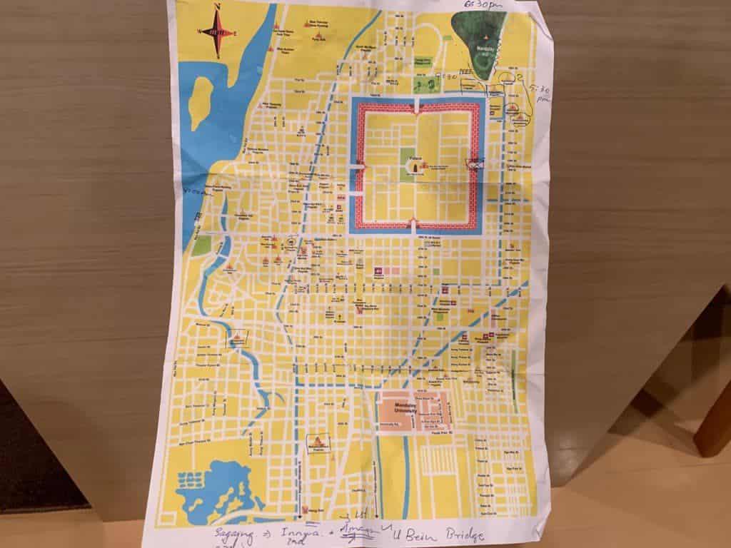 マンダレー 地図