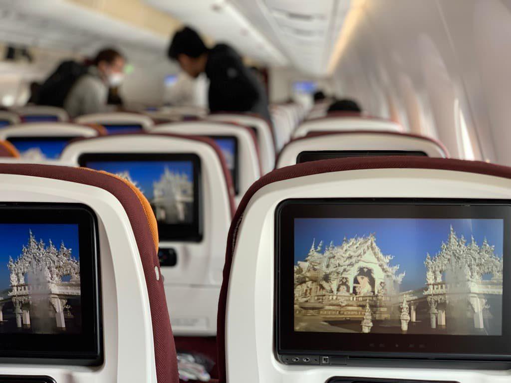 タイ国際航空 機内モニター
