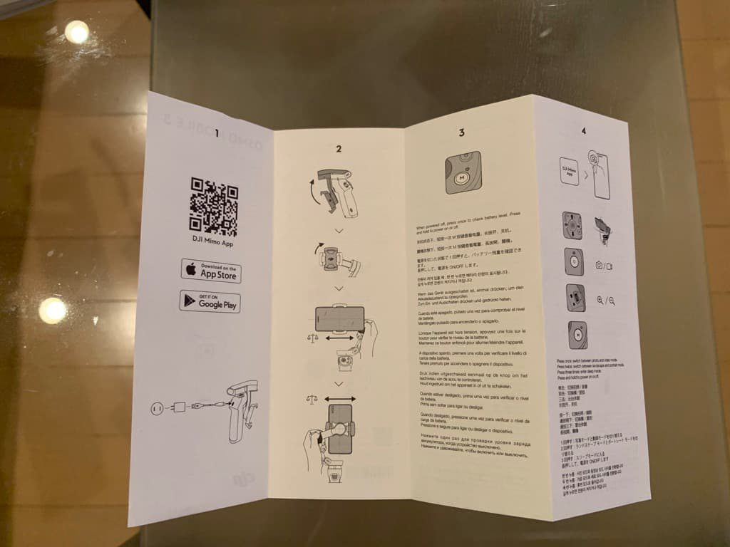 Osmo mobile 3 クイックスタートガイド