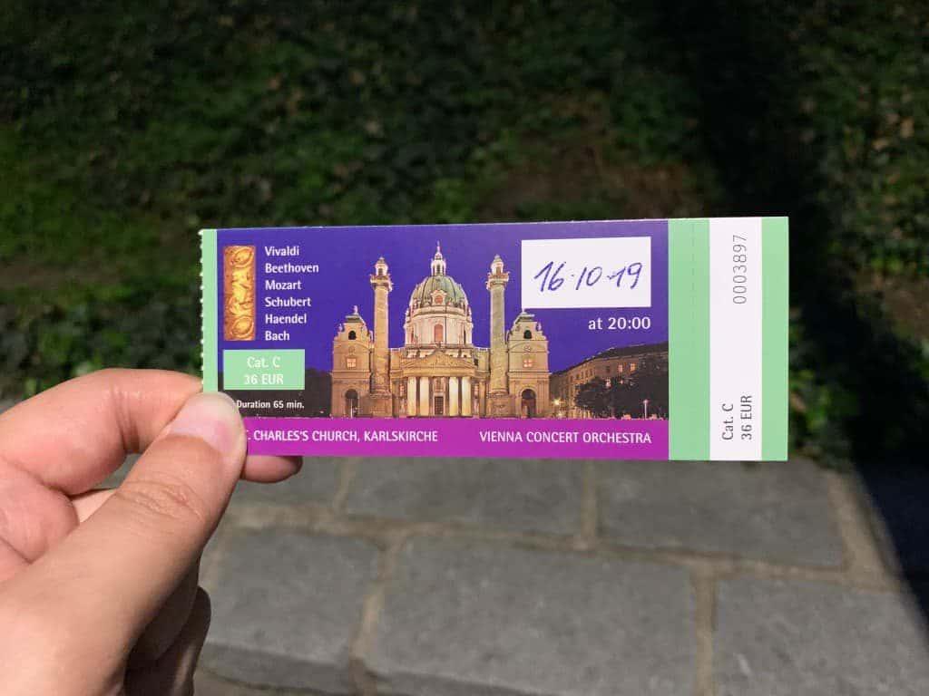 カールス教会 コンサートチケット