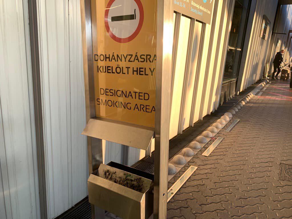 ブダペスト空港 喫煙所