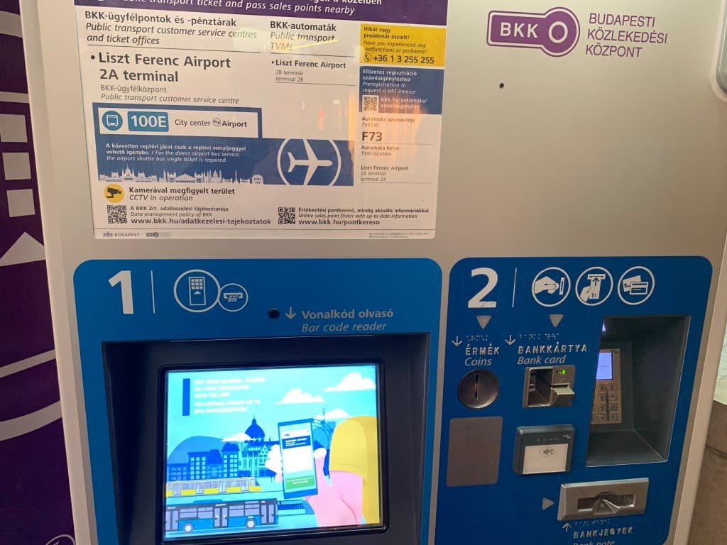 リスト・フェレンツ空港 バスチケット売場