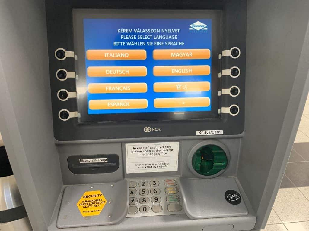 ブダペスト空港ATM
