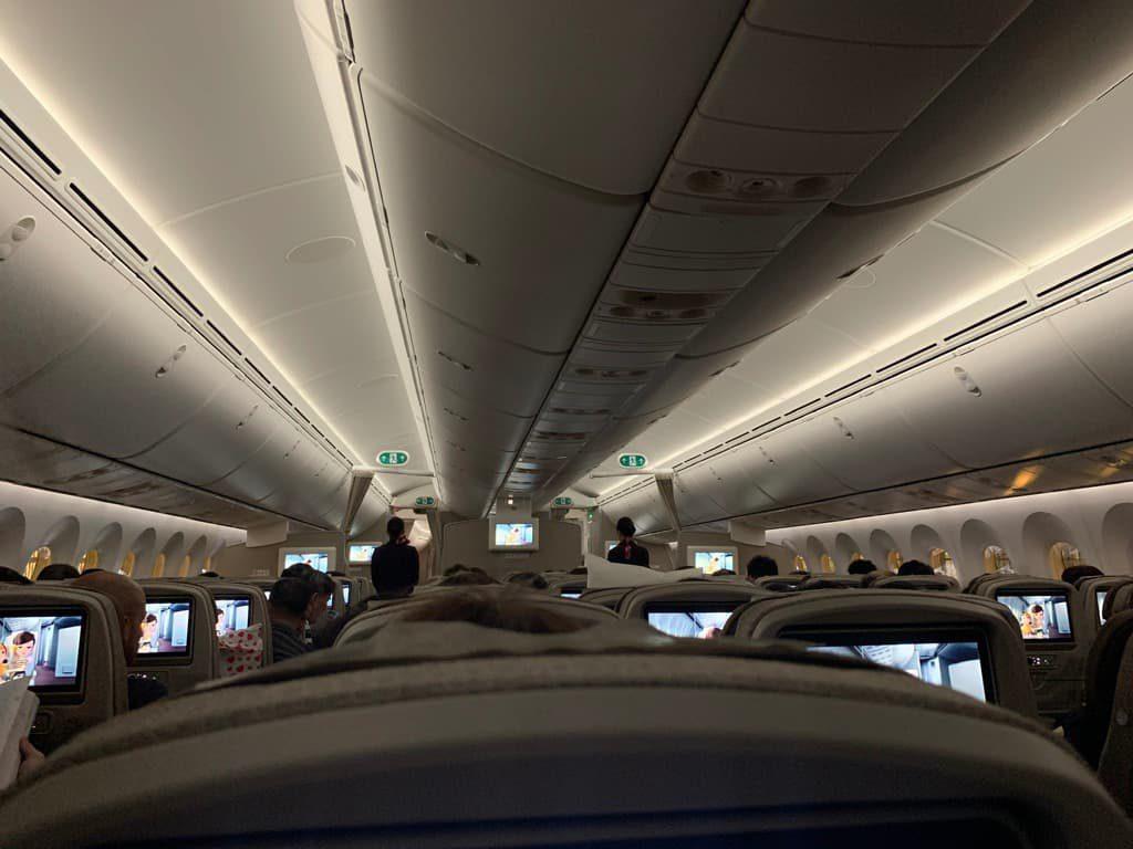 上海航空機内