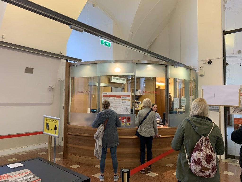 オーストリア国立図書館チケット売り場
