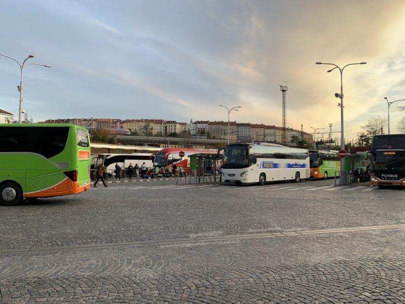 プラハ フロレンスバスステーション