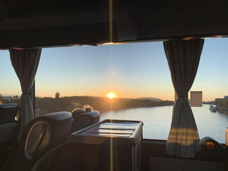 ドナウ川夕陽