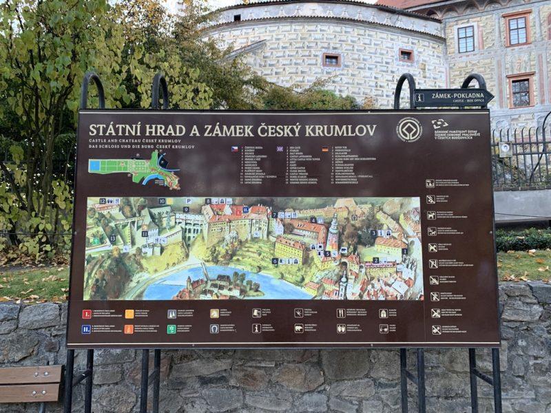 チェスキークルムロフ城 地図