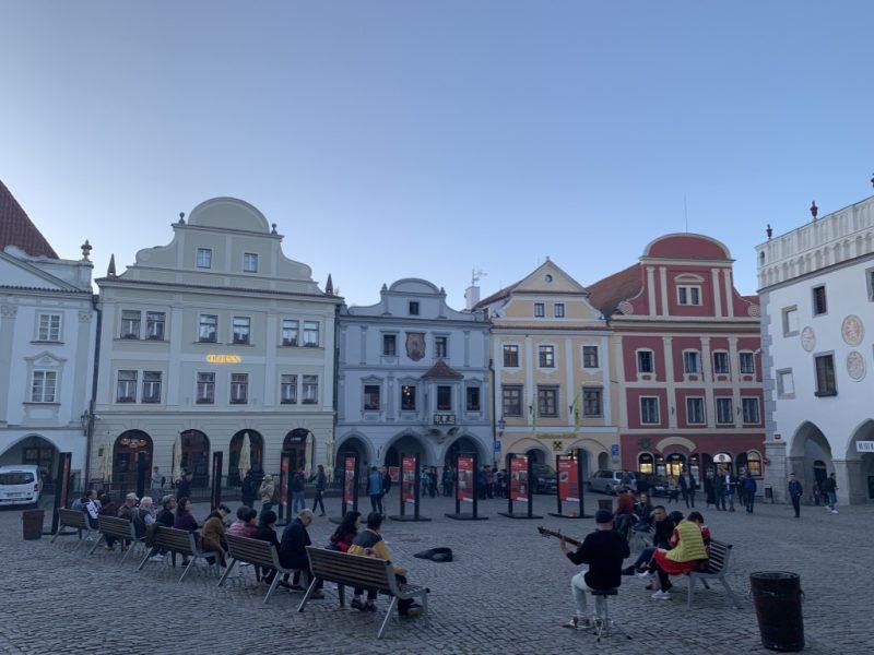 チェスキークルムロフ 中央広場