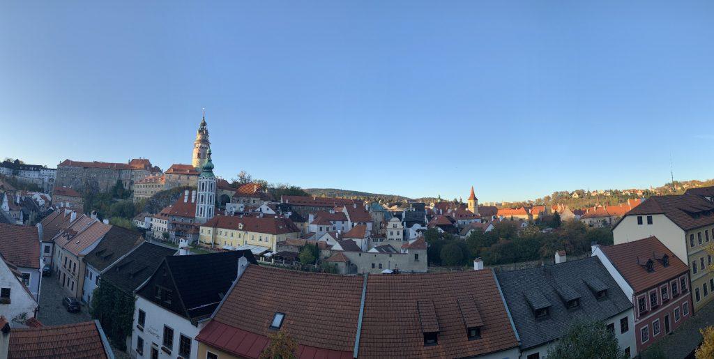 チェスキークルムロフ 郷土博物館からの景色