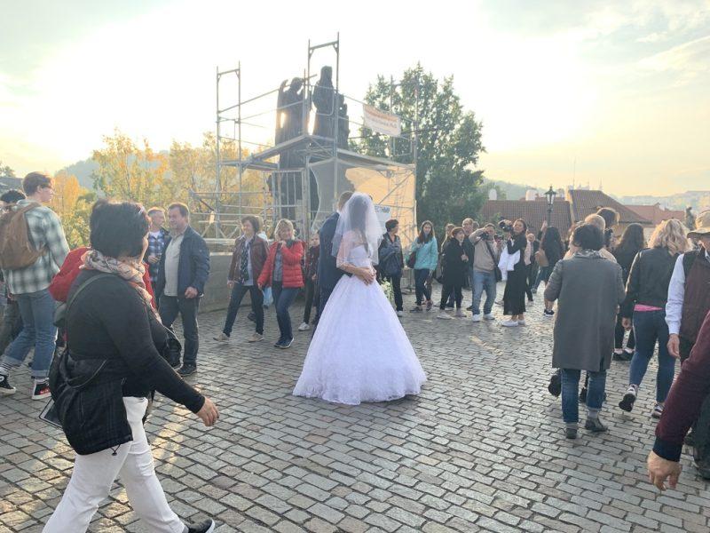 カレル橋 結婚式写真
