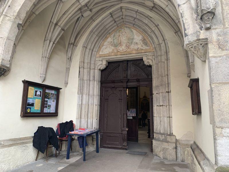 チェスキークルムロフ ヴィート教会入口
