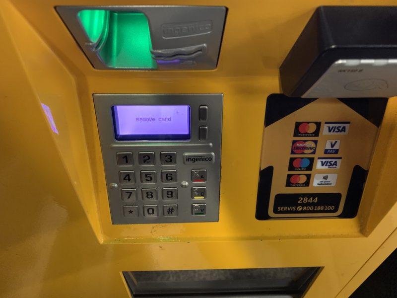 プラハ地下鉄券売機