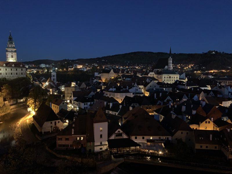 チェスキークルムロフ 夜景