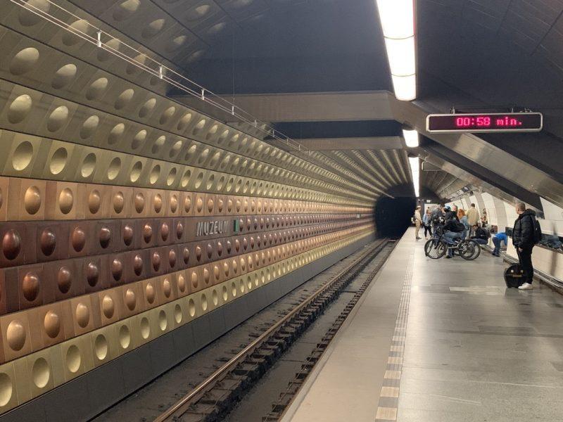 プラハ地下鉄駅