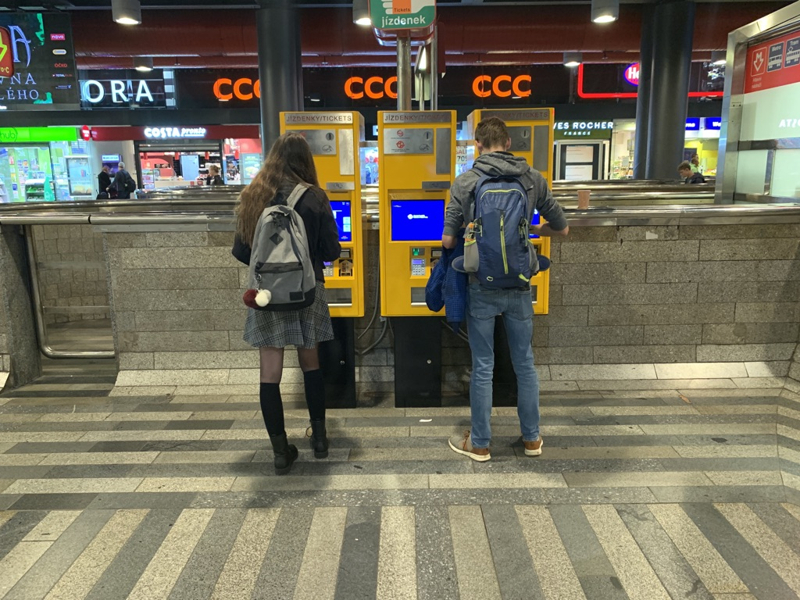 プラハ本駅券売機
